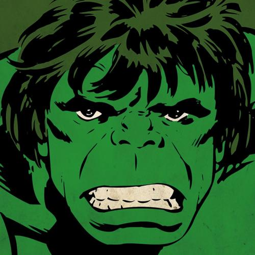 MARVEL COMICS - Canvas 40X40 '18mm' - HULK Close-Up