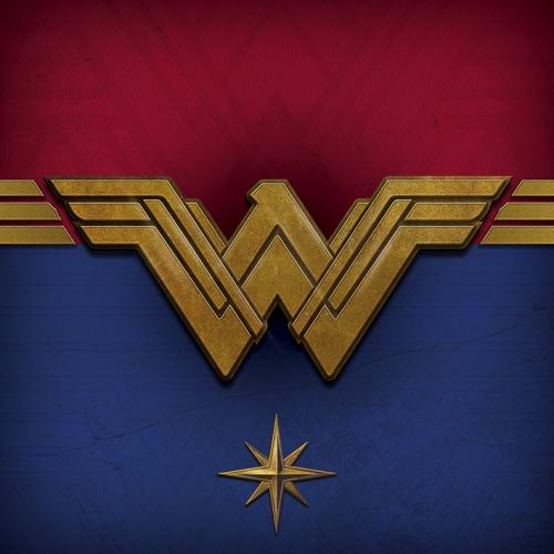 WONDER WOMAN - Canvas 40X40 '18mm' - Emblem