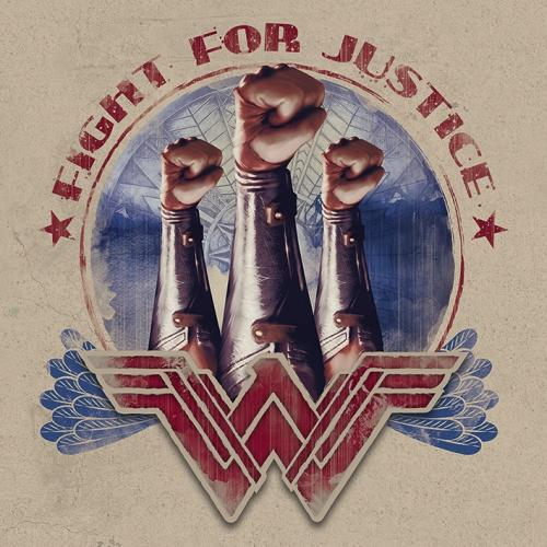 WONDER WOMAN - Canvas 40X40 '18mm' - Fight For Justice