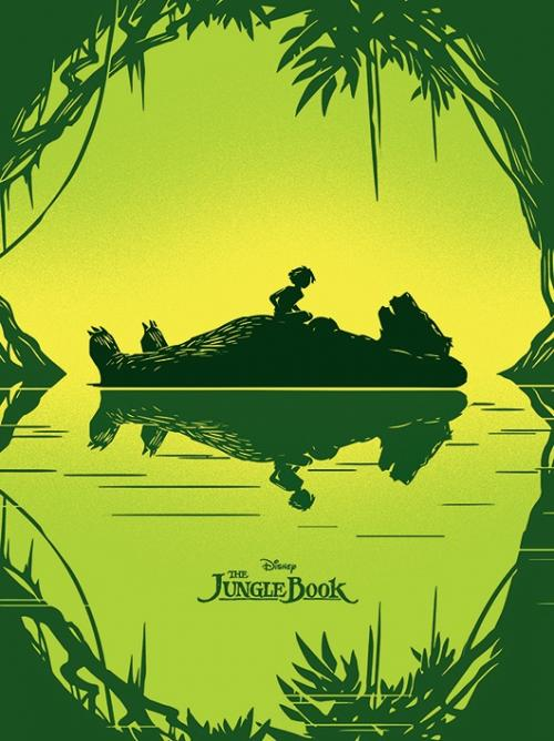 DISNEY - Canvas 60X80 '18mm' - Jungle Book Baloo & Mowgli