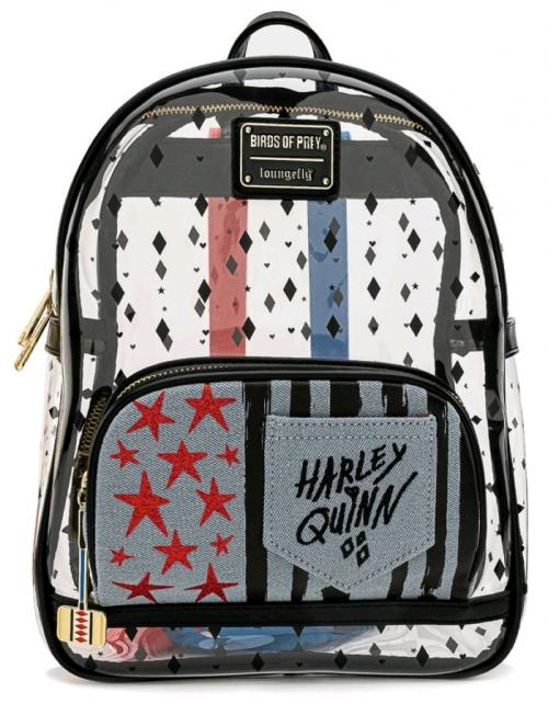 BIRDS OF PREY - Harley - Mini sac à dos transparent 'LoungeFly'