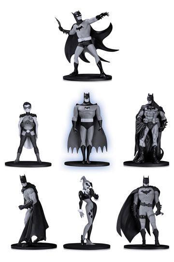BATMAN - Black & White Pack 7 Figurines PVC Box Set 2 - 10cm