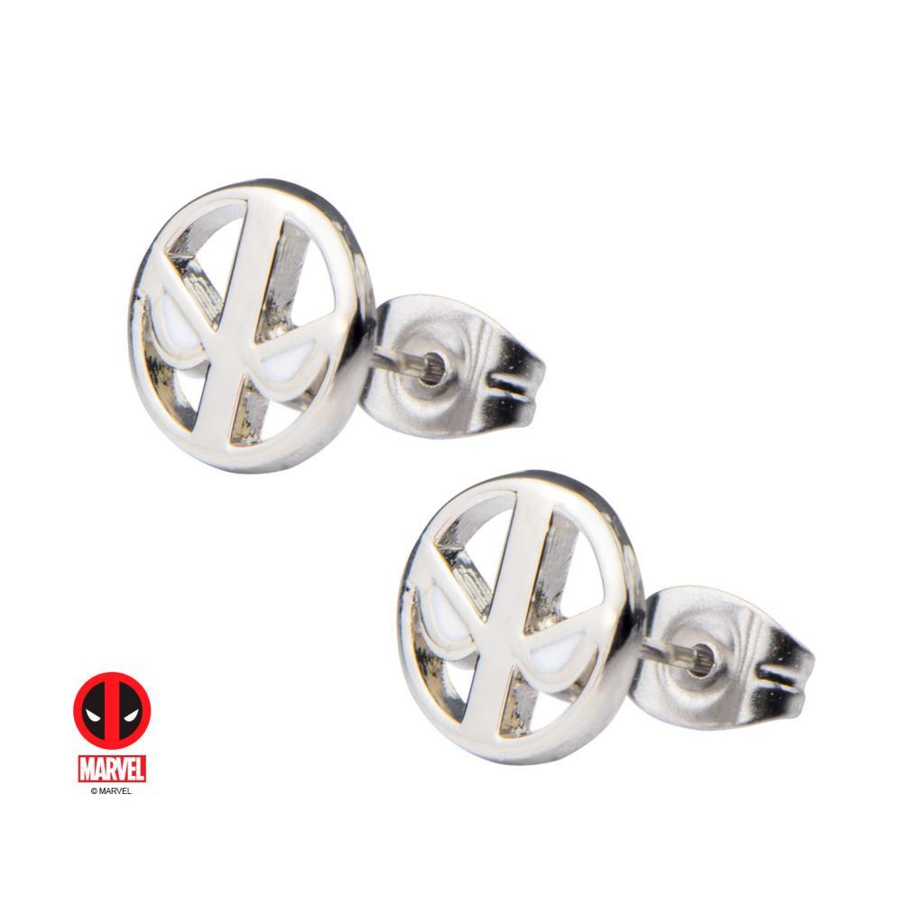 MARVEL - Stainless Steel Deadpool Logo Glow Stud Earrings