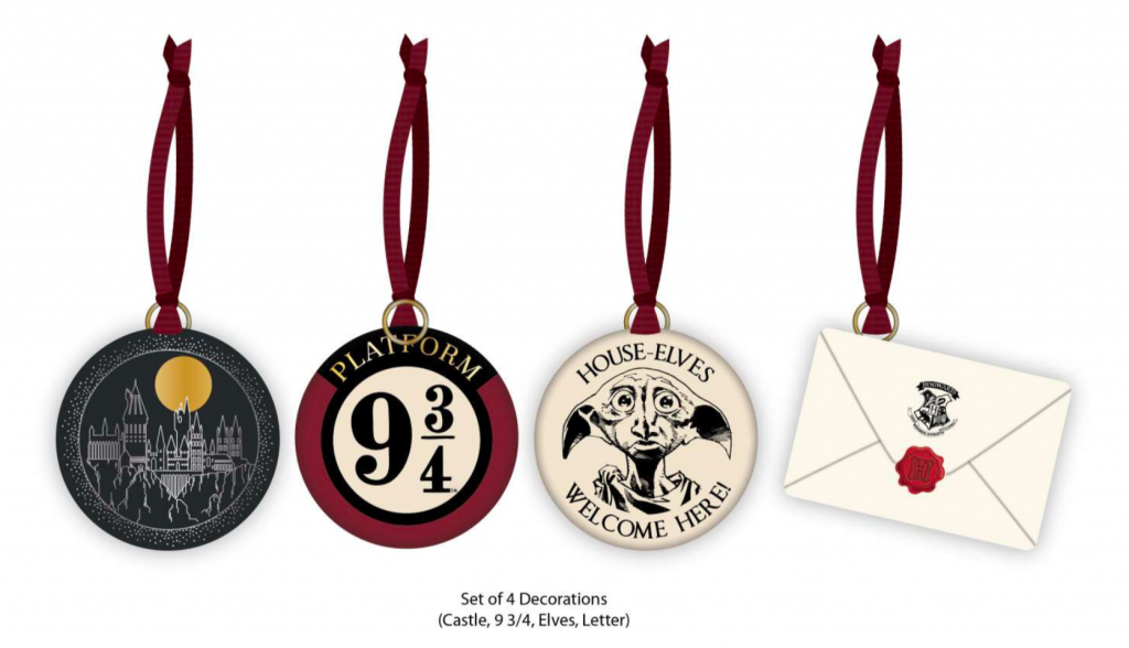 HARRY POTTER - Christmas Decorations 'Set of 4'