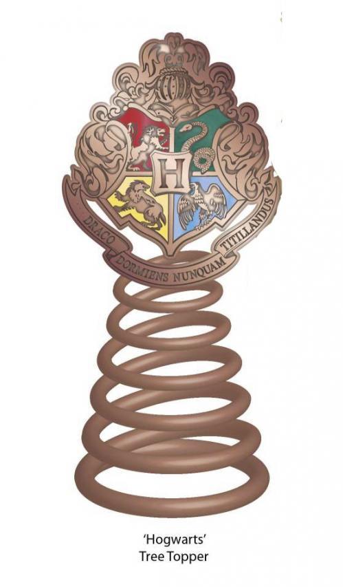 HARRY POTTER - Flèche Sapin de Noël - Décoration 16cm - Hogwarts Crest