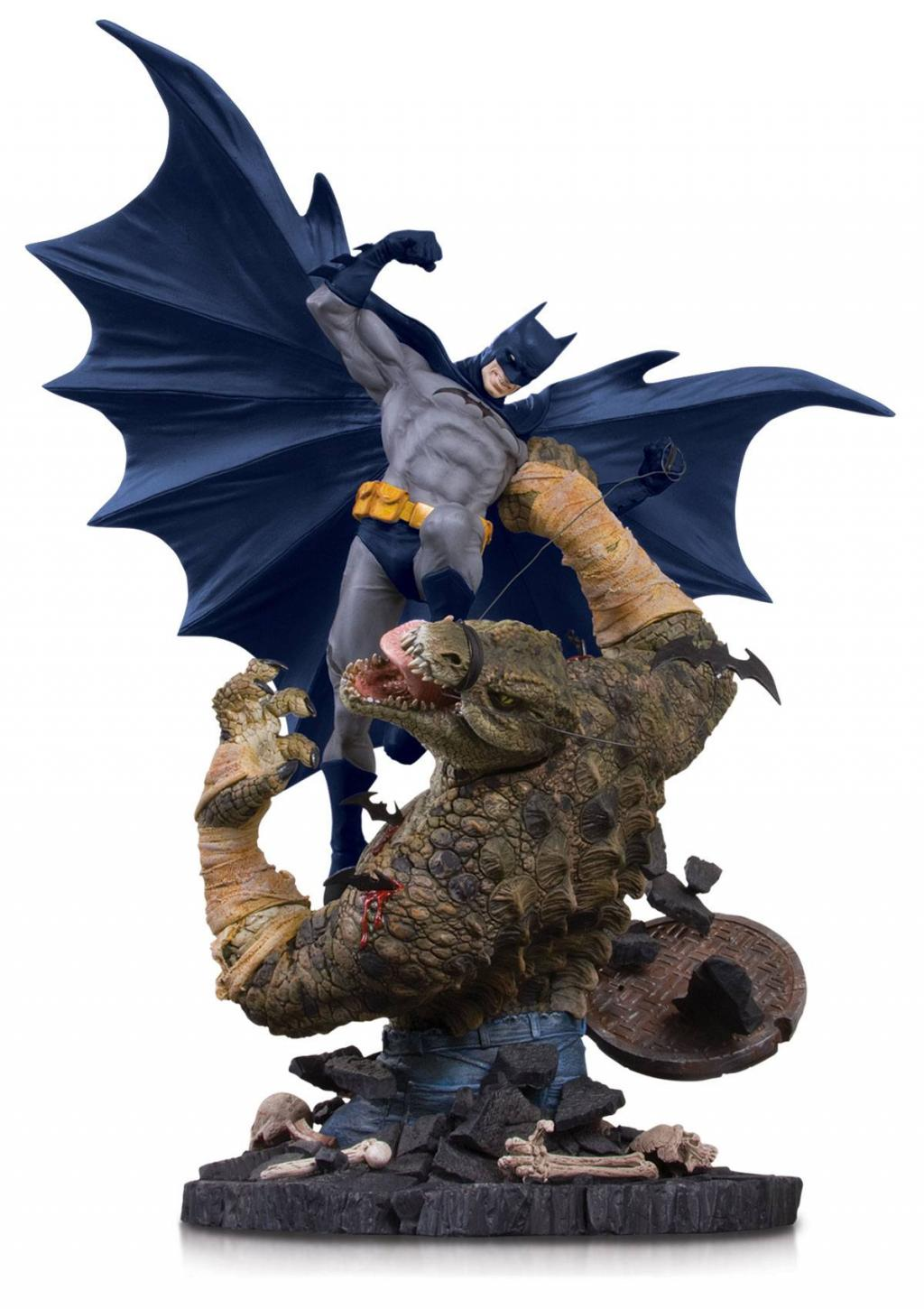 DC COMICS - Batman vs Killer Croc Mini Battle Statue - 21cm
