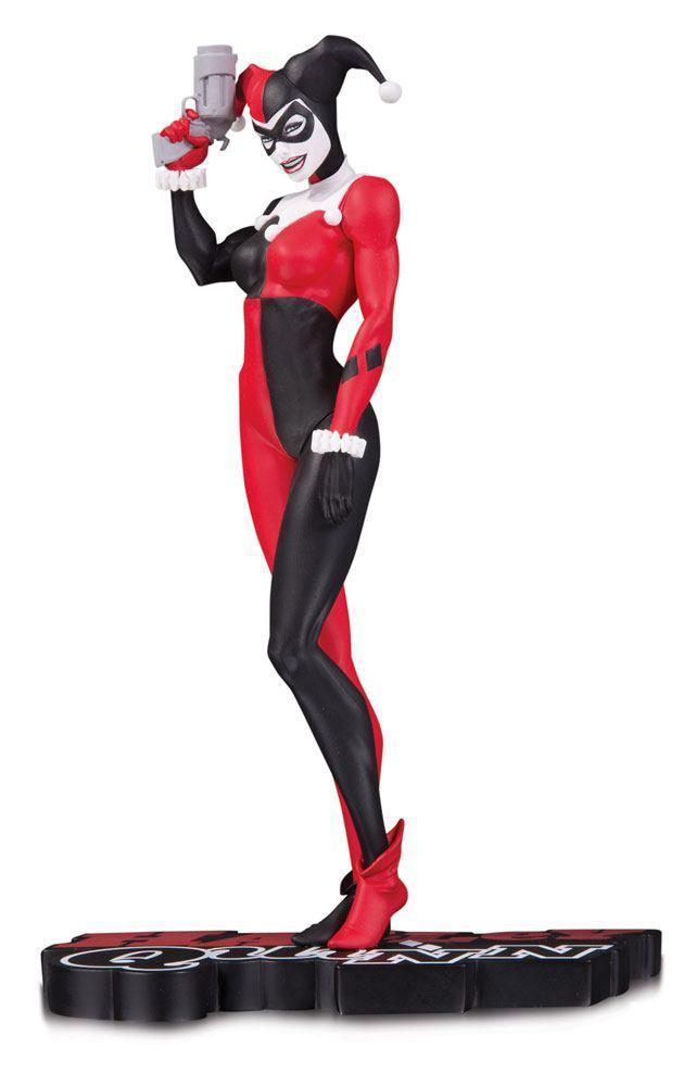 DC COMICS - Harley Quinn Red White & Black Statue 'M. Turner' - 18cm