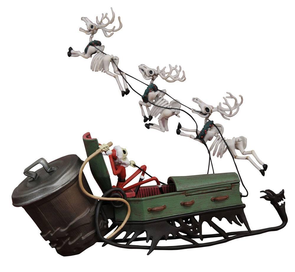 NIGHTMARE BEFORE CHRISTMAS - Statuette - Jack & Sleigh