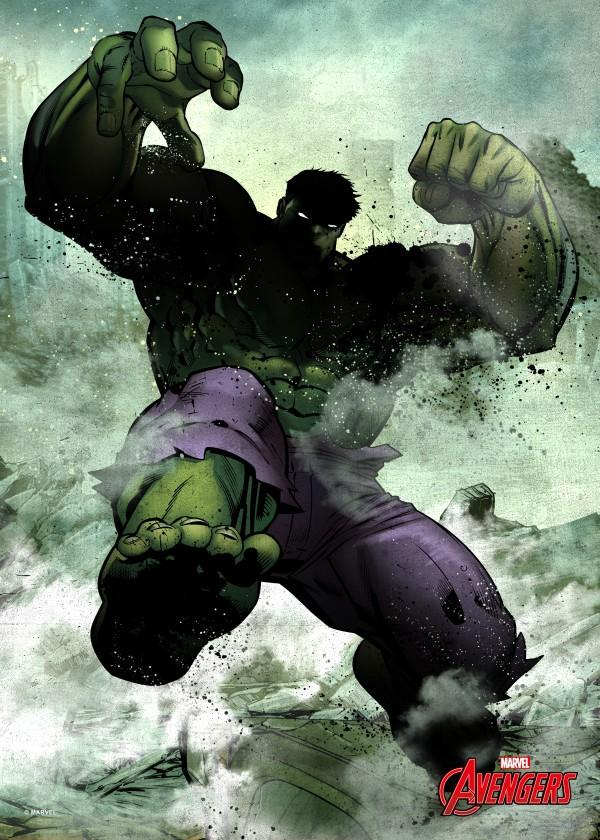MARVEL DARK EDITION - Magnetic Metal Poster 45x32 - Hulk