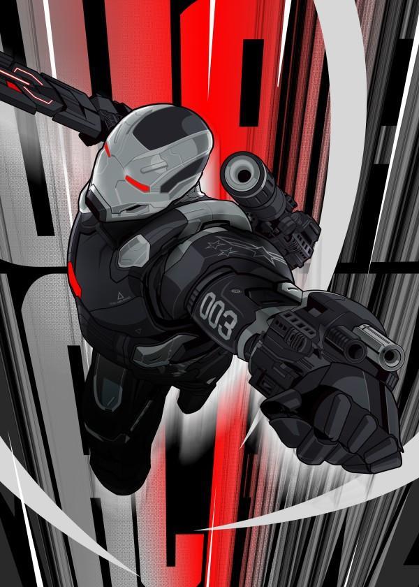 CIVIL WAR SHOWDOWN - Magnetic Metal Poster 45x32 - War Machine