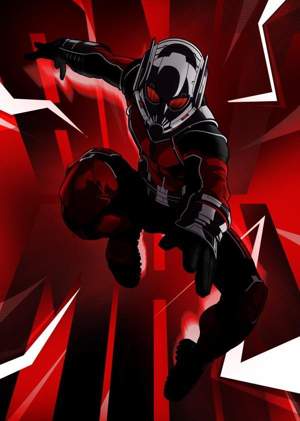 CIVIL WAR SHOWDOWN - Magnetic Metal Poster 45x32 - Ant-Man