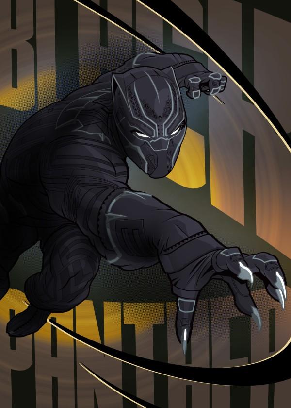CIVIL WAR SHOWDOWN - Magnetic Metal Poster 45x32 - Black Panther