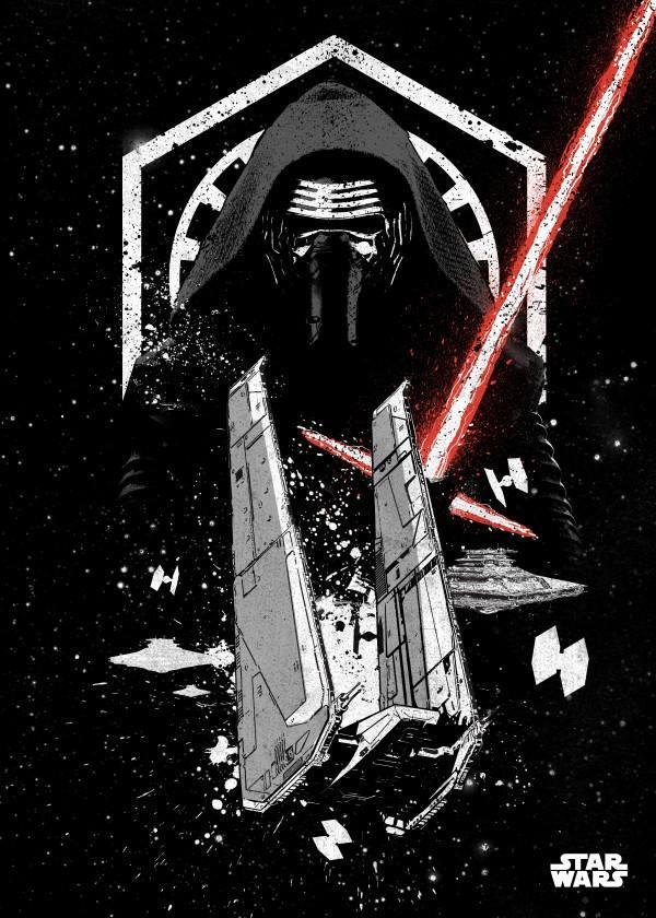 STAR WARS PILOTS - Magnetic Metal Poster 45x32 - Kylo_1