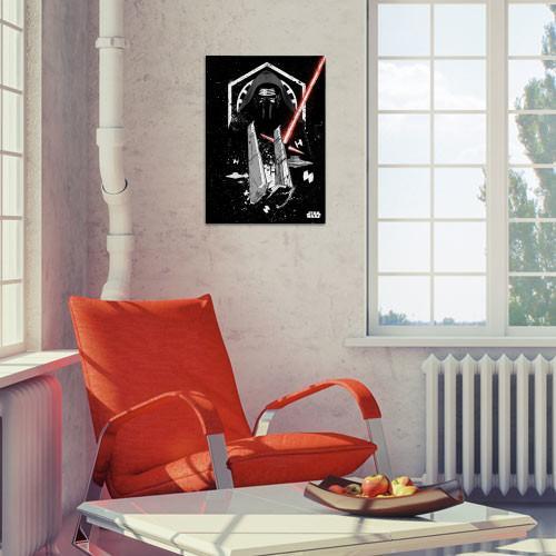 STAR WARS PILOTS - Magnetic Metal Poster 45x32 - Kylo_3