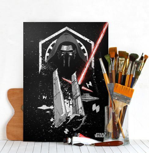 STAR WARS PILOTS - Magnetic Metal Poster 45x32 - Kylo_4