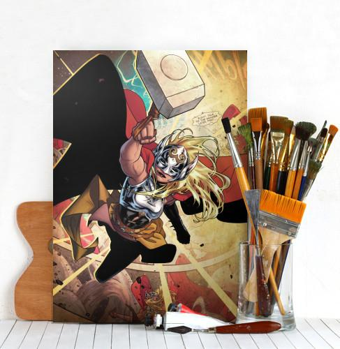 MARVEL ALL NEW - Magnetic Metal Poster 45x32 - Thor Jane Foster (M)_4