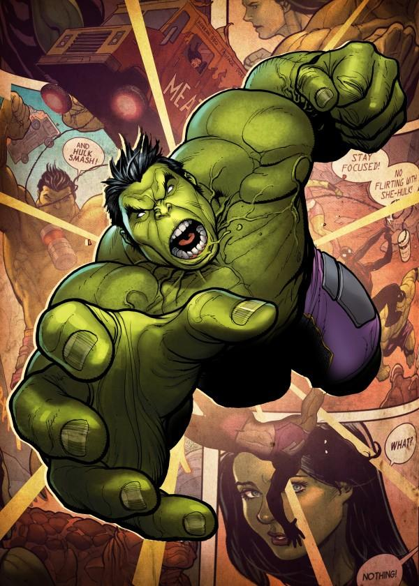 MARVEL ALL NEW - Magnetic Metal Poster 15x10 - Hulk (S)