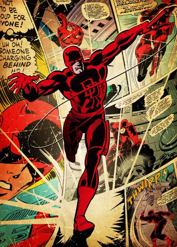 MARVEL SILVER AGE - Magnetic Metal Poster 45x32 - Daredevil