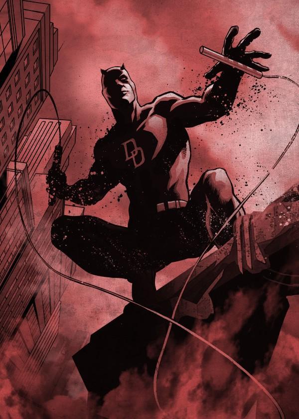 MARVEL DARK EDITION - Magnetic Metal Poster 45x32 - Daredevil