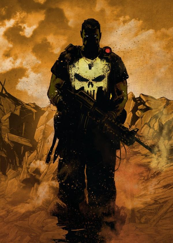 MARVEL DARK EDITION - Magnetic Metal Poster 45x32 - Punisher