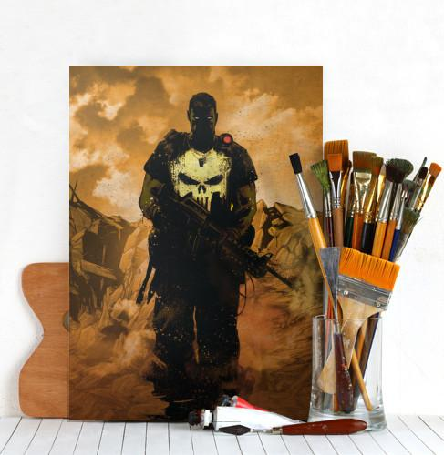MARVEL DARK EDITION - Magnetic Metal Poster 45x32 - Punisher_3