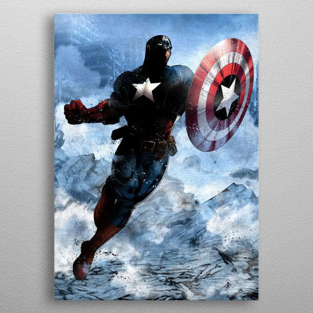MARVEL - Dark Edition - Magnetic Metal Poster 31x21 - Captain America
