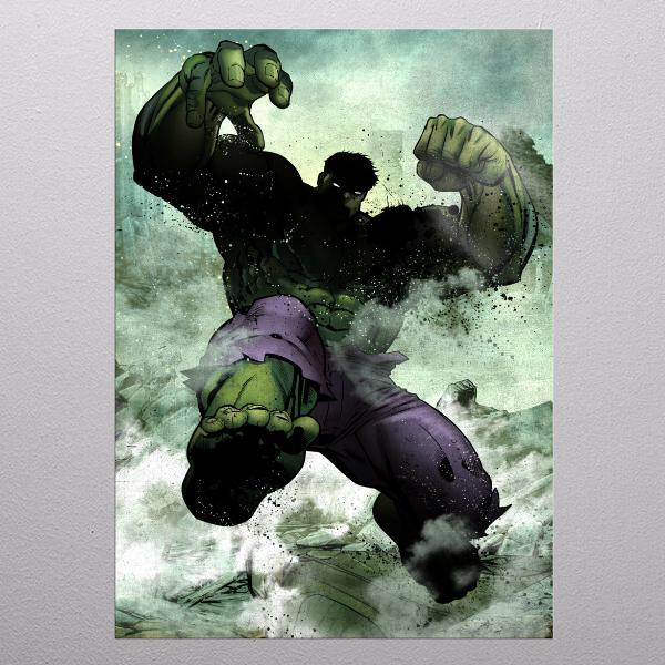 MARVEL DARK EDITION - Magnetic Metal Poster 31x21 - Hulk_1