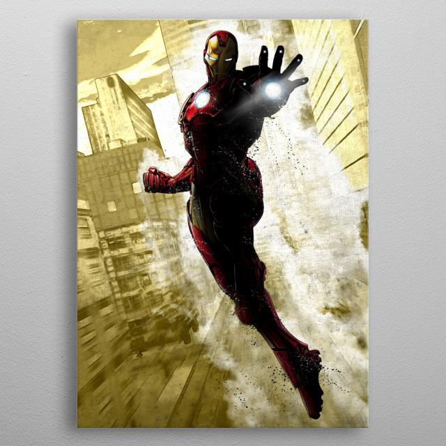 MARVEL DARK EDITION - Magnetic Metal Poster 31x21 - Iron Man