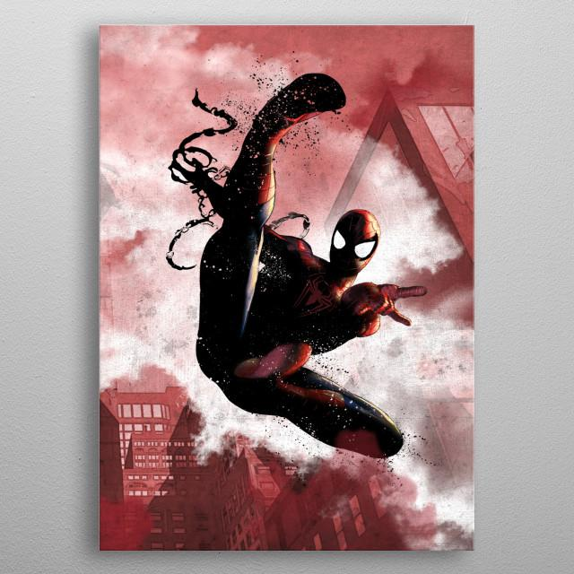 MARVEL - Dark Edition - Magnetic Metal Poster 31x21 - Spider-man
