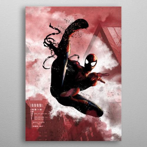 MARVEL - Dark Edition - Magnetic Metal Poster 31x21 - Spider-man