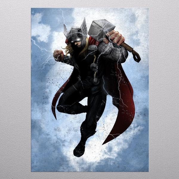 MARVEL - Dark Edition - Magnetic Metal Poster 31x21 - Thor_1