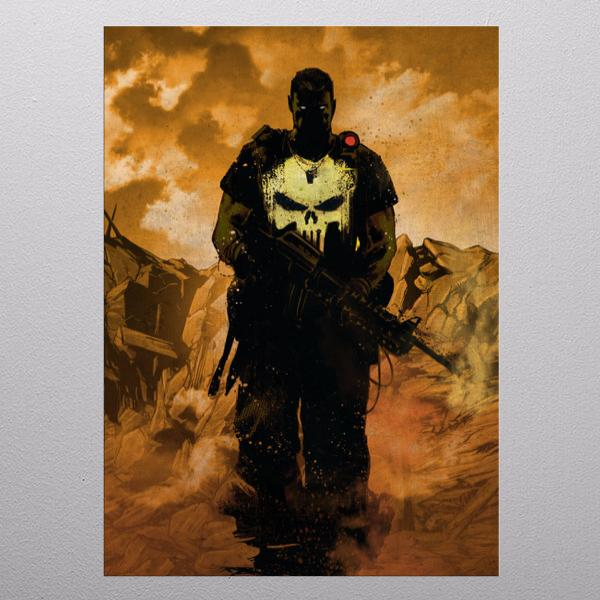 MARVEL DARK EDITION - Magnetic Metal Poster 31x21 - Punisher