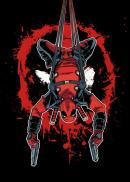 DEADPOOL MERC - Magnetic Metal Poster 15x10 - Hang in There