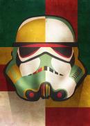STAR WARS MASKED TROOPER - Magnetic Metal Poster 15x10 - Shapes