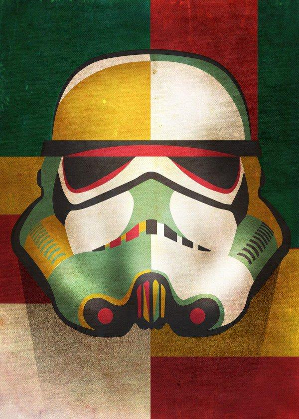 STAR WARS MASKED TROOPER - Magnetic Metal Poster 68x48 - Shapes (L)