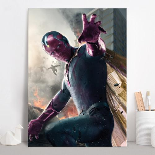 AGE OF ULTRON CHARACTERS - Magnetic Metal Poster 45x32 - Vision_4