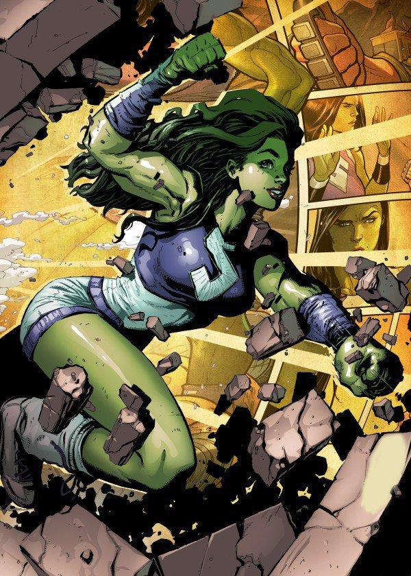 MARVEL ALL NEW - Magnetic Metal Poster 15x10 - She-Hulk (S)