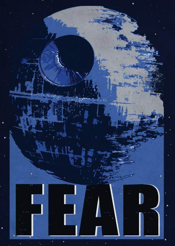 GALACTIC PROPAGANDA - Magnetic Metal Poster 45x32 - Fear_2