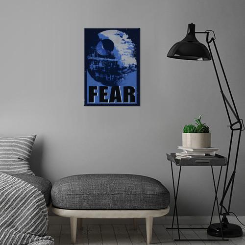 GALACTIC PROPAGANDA - Magnetic Metal Poster 45x32 - Fear_3
