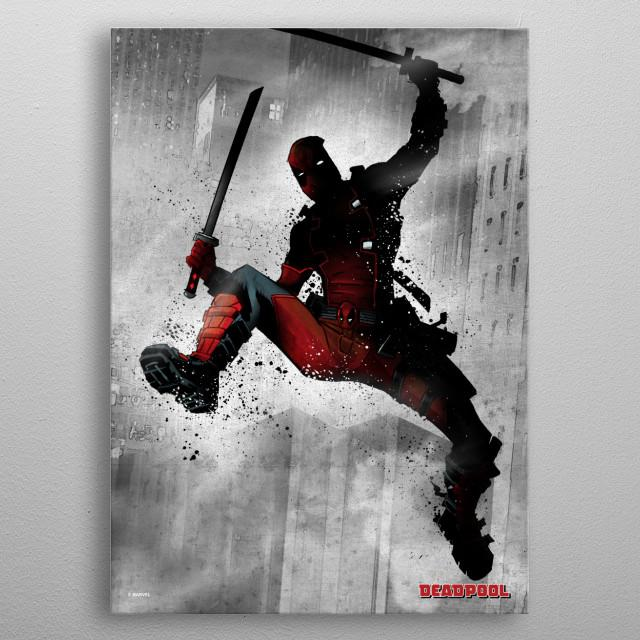 MARVEL DARK EDITION - Magnetic Metal Poster 31x21 - Deadpool_1