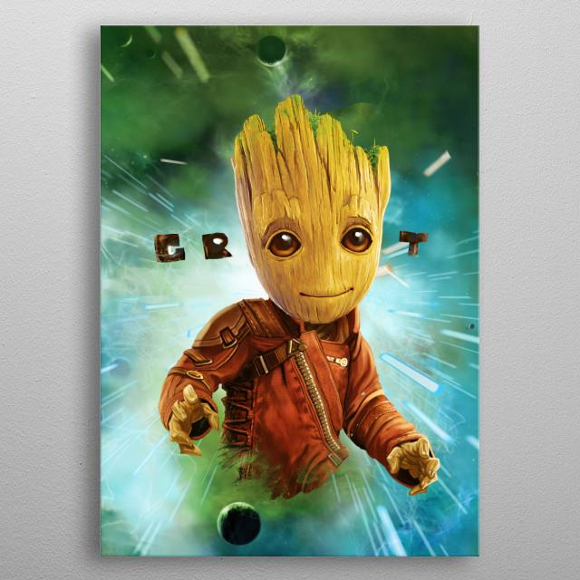 GUARDIANS OF THE GALAXY 2 - Magnetic Metal Poster 31x21 - Groot Space