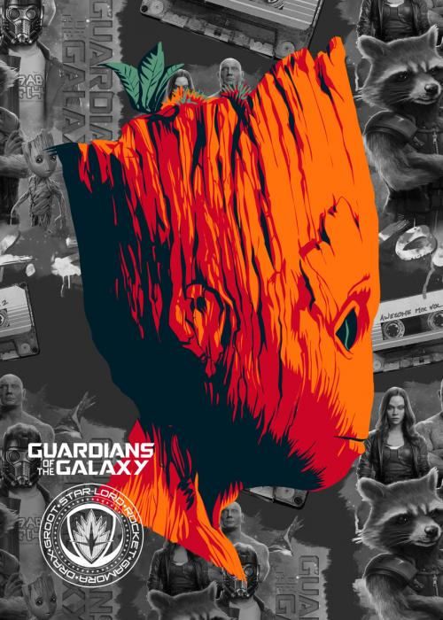 GUARDIANS OF THE GALAXY 2 - Magnetic Metal Poster 45x32 - Groot