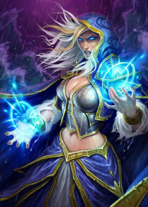 HEARTHSTONE - Magnetic Metal Poster 31x21 - Jaina Proudmoore