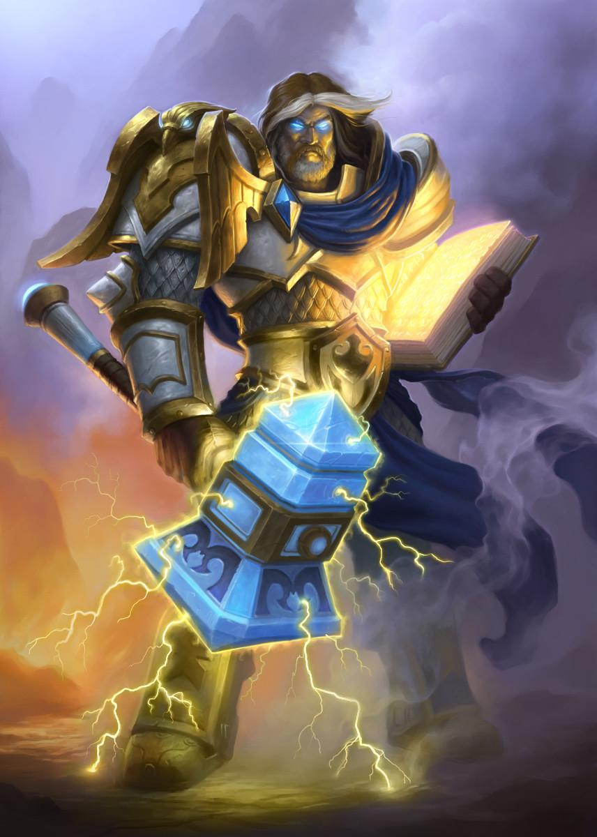 HEARTHSTONE - Magnetic Metal Poster 31x21 - Uther the Lightbringer_1