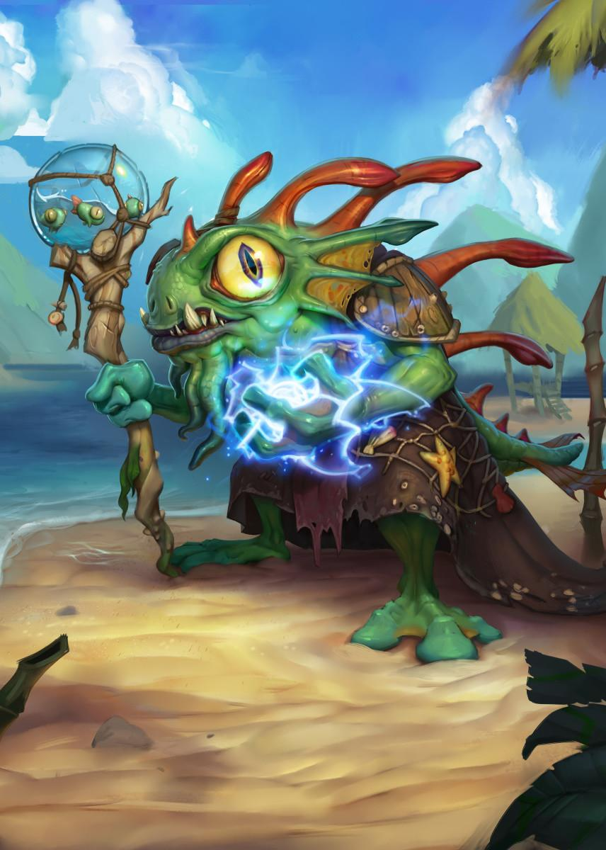 HEARTHSTONE - Magnetic Metal Poster 31x21 - Morgl the Oracle_1
