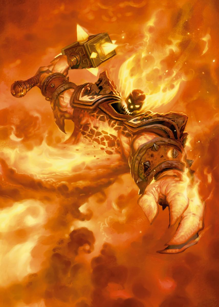 HEARTHSTONE - Magnetic Metal Poster 31x21 - Ragnaros the Firelord