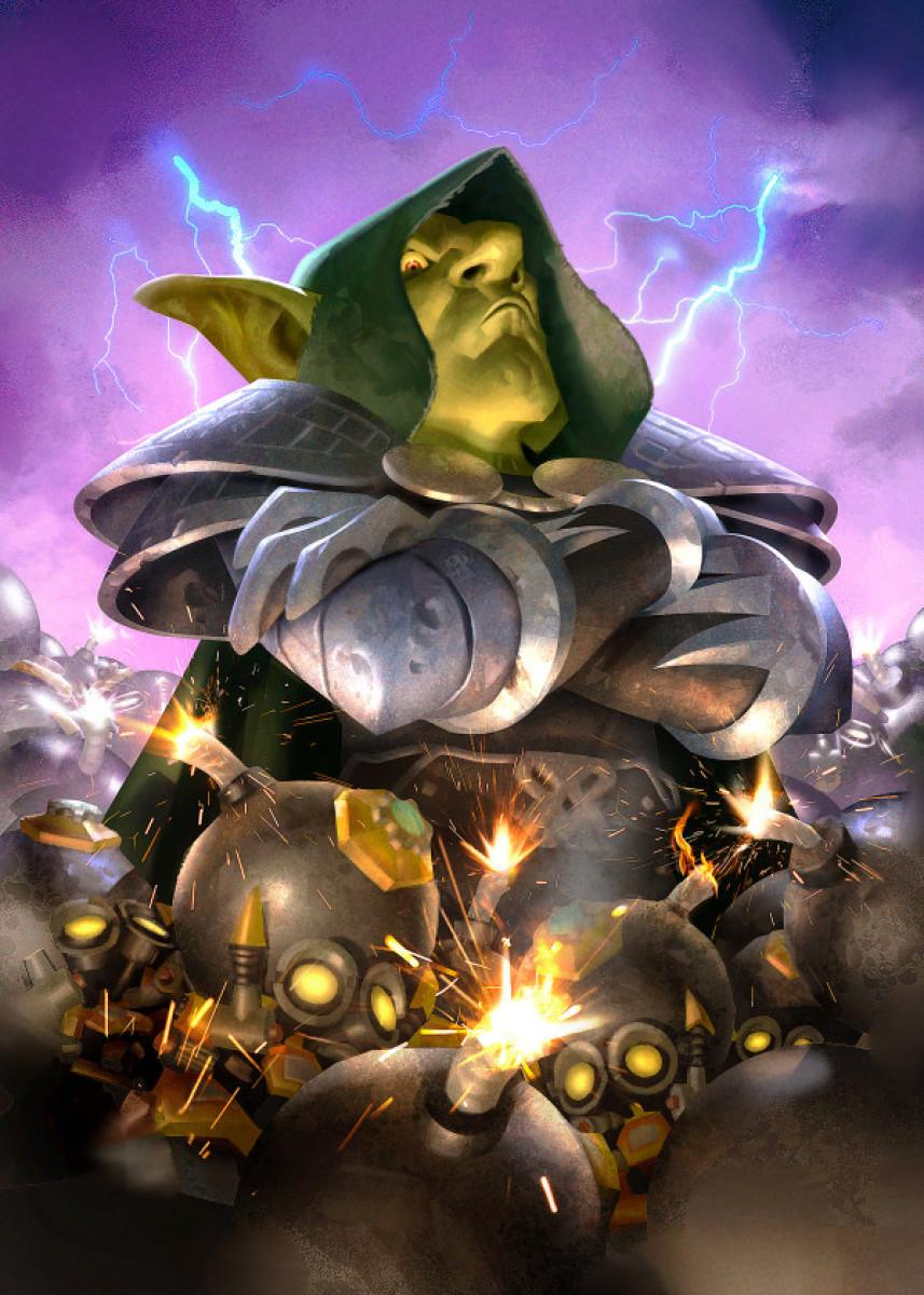 HEARTHSTONE - Magnetic Metal Poster 31x21 - Dr. Boom