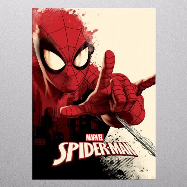 MARVEL - Magnetic Metal Poster 31x21 - Spiderman - Peter Parker