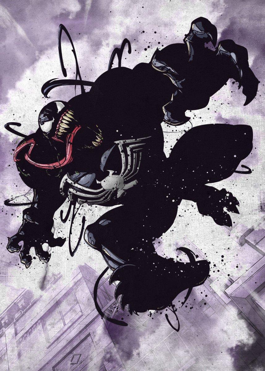MARVEL - Dark Edition - Magnetic Metal Poster 45x32 - Venom