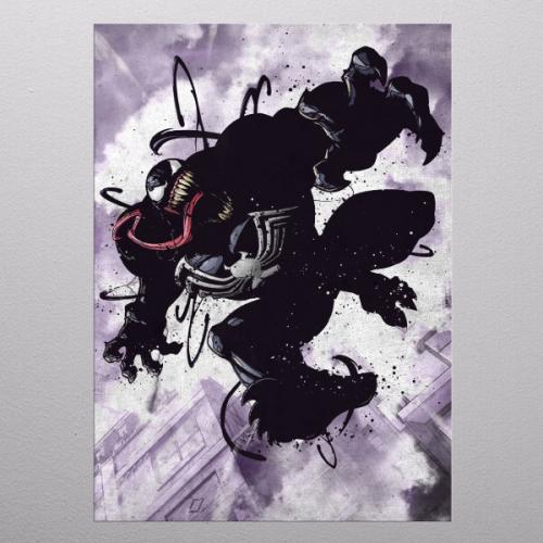 MARVEL - Dark Edition - Magnetic Metal Poster 31x21 - Venom